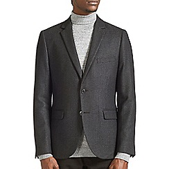 Burton - Black wool blend textured blazer