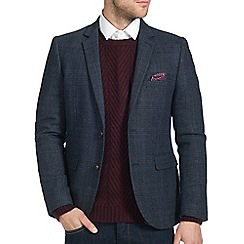 Burton - Navy checked blazer