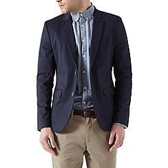 Burton - Navy cotton blazer