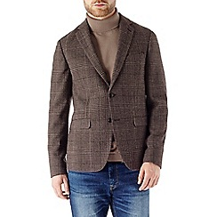 Burton - Brown check blazer