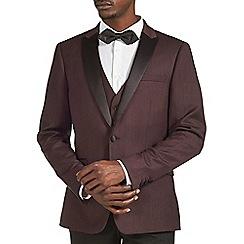 Burton - Wine jacquard blazer