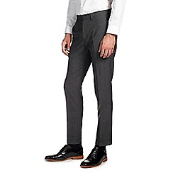 Burton - Skinny fit charcoal check formal trousers