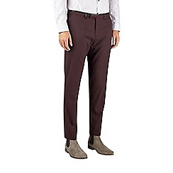 Burton - Burgundy skinny fit smart trousers