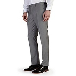 Burton - Light grey puppytooth skinny fit formal trousers