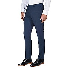 Burton - Skinny fit blue puppytooth formal trousers