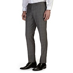 Burton - Grey check skinny fit formal trousers