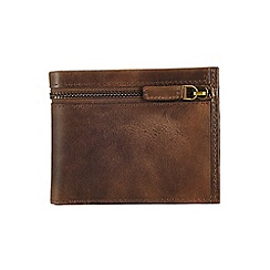 Burton - Brown zip wallet