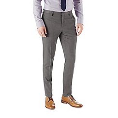 Burton - Skinny fit grey textured formal trousers