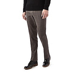 Burton - Skinny fit monochrome check formal trousers