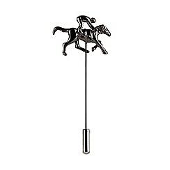 Burton - Dark grey jockey lapel pin