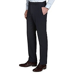Burton - Regular fit navy pinstripe trousers