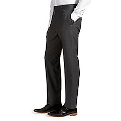Burton - Charcoal stripe regular fit trousers