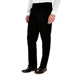 Burton - Black regular fit formal trousers