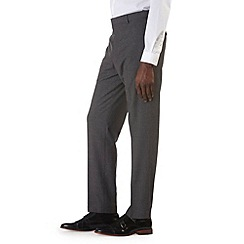 Burton - Grey check regular fit formal trousers