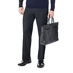 Burton - Regular fit navy pinstripe formal trousers