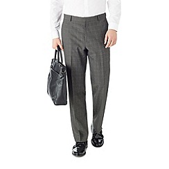 Burton - Regular fit grey check formal trousers