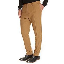 Burton - Tobacco premium flannel wool slim fit trousers