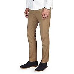 Burton - Tan slim fit cotton trousers