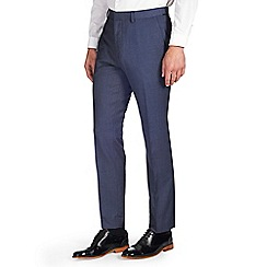 Burton - Slim fit blue chambray formal trousers