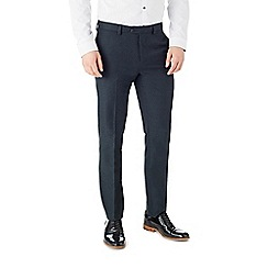 Burton - Slim fit navy fleck formal trousers