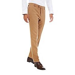 Burton - Camel slim fit wool blend trousers