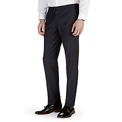 Burton - Navy check slim fit formal trousers