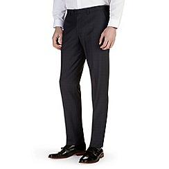 Burton - Navy check slim fit formal trousers