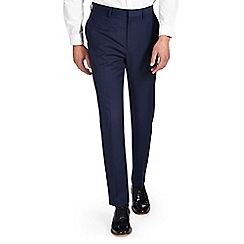 Burton - Slim fit ink blue formal trousers