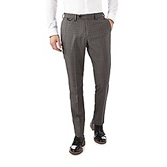 Burton - Slim fit grey check formal trousers