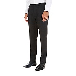 Burton - Charcoal slim fit highlight check trousers
