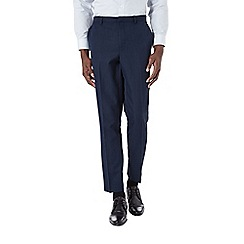 Burton - Slim fit navy sharksin formal trousers