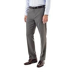 Burton - Slim grey textured trousers