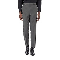 Burton - Slim fit grey textured trousers