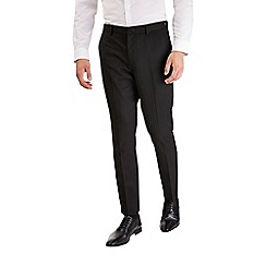 Burton - Black slim fit textured trousers