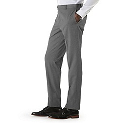 Burton - Grey diamond check slim fit trousers