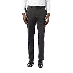 Burton - Dark grey fancy weave formal trousers