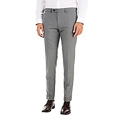 Burton - Slim light grey check formal trousers
