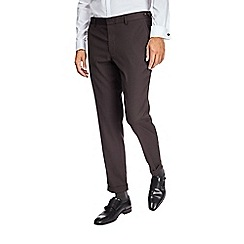 Burton - Brown skinny fit textured trousers