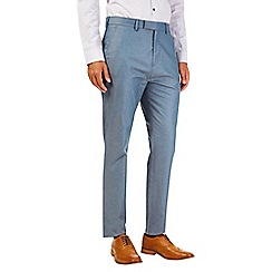 Burton - Montague burton blue twill trousers