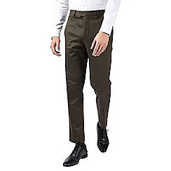 Burton - Green slim fit sateen trousers