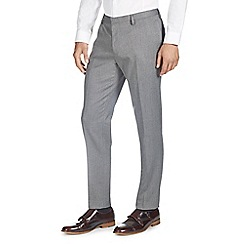 Burton - Tailored charcoal check formal trousers