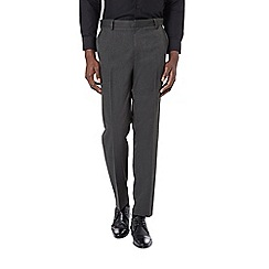 Burton - Tailored fit charcoal grey formal trousers