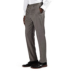 Burton - Light grey texture tipped tailored fit formal trousers
