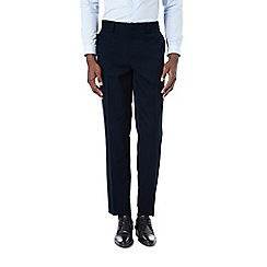 Burton - Tailored fit navy formal trousers