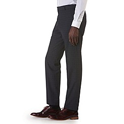 Burton - Charcoal check tailored fit trousers