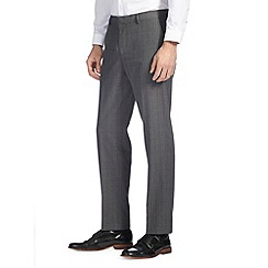 Burton - Grey check tailored fit trousers