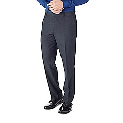 Burton - Tailored fit navy textured formal trouser