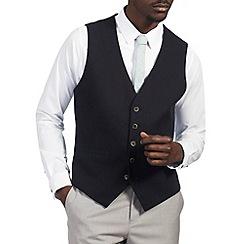 Burton - Navy basket weave waistcoat