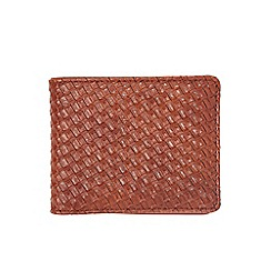 Burton - Tan weave wallet