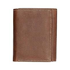Burton - Brown trifold leather wallet